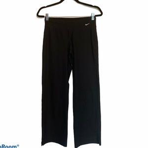 Nike Size Small Solid Black Wide Leg Yoga Pants